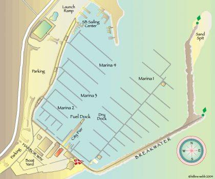 Harbor Map Santa Barbara Seacoast Yachts 420x350